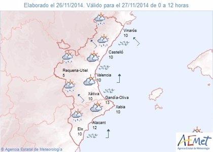 Las lluvias llegará por la tarde a la Comunitat y se prevé que sean fuertes en Castellón