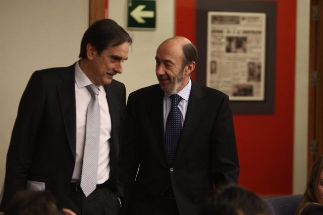 Valeriano Gómez y  Alfredo Pérez Rubalcaba