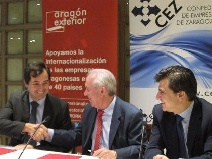 Zaragoza.- Aragón exterior y la CEZ buscan internacionalizar las empresas de tres sectores en tres áreas geográficas