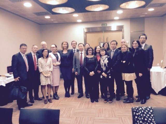 Reunión de empresarios españoles con el grupo chino Wanda