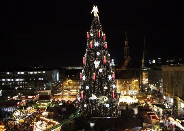 Dortmund y su espectacular árbol de Navidad... ¿El más grande del mundo?