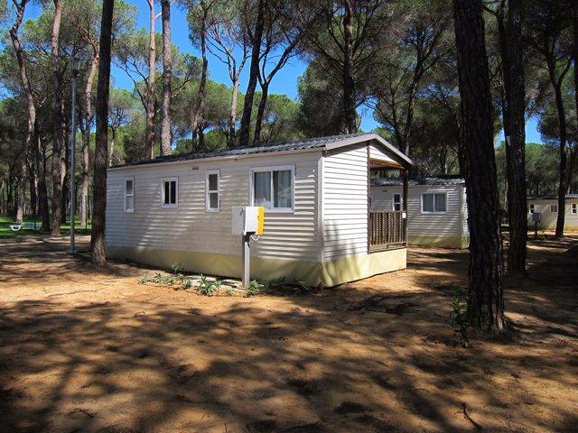 Bungalow en un camping en Doñana.