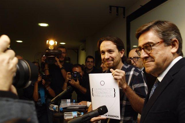 Pablo Iglesias presenta documento económico de Podemos