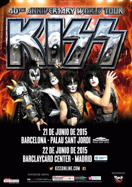 Kiss venden en un día 10.100 entradas para Madrid y 7.000 para Barcelona