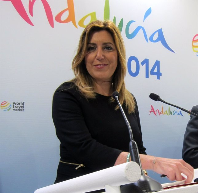 La presidenta de la Junta, Susana Díaz, en la World Travel Market
