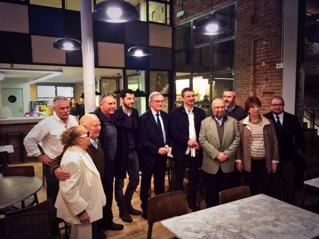 El alcalde de Barcelona Xavier Trias visita La Lira, en Sant Andreu