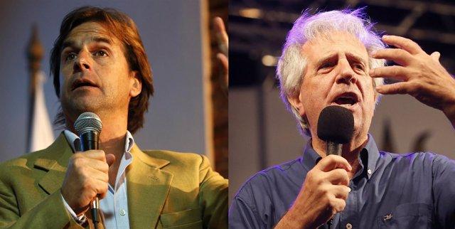 Luis Lacalle Pou y Tabaré Vázquez