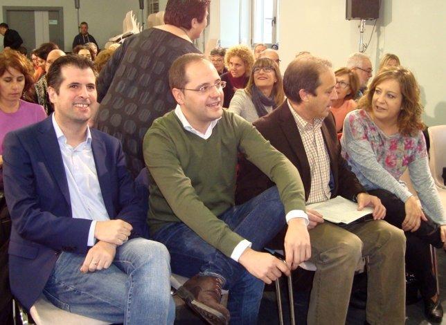 Luena (2i), con Tudanca, García y Gordo.