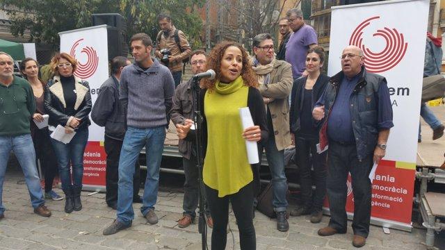 Aurora Jhardi presenta la plataforma Guanyem Mallorca
