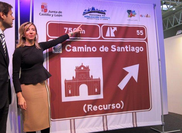 García presenta la nueva señalización del Camino de Santiago y Ruta Del Duero
