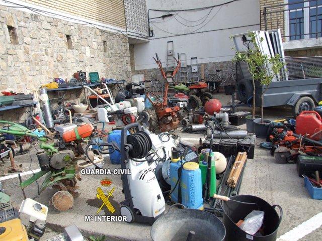 Efectos robados presuntamente por un vecino de Lebrija