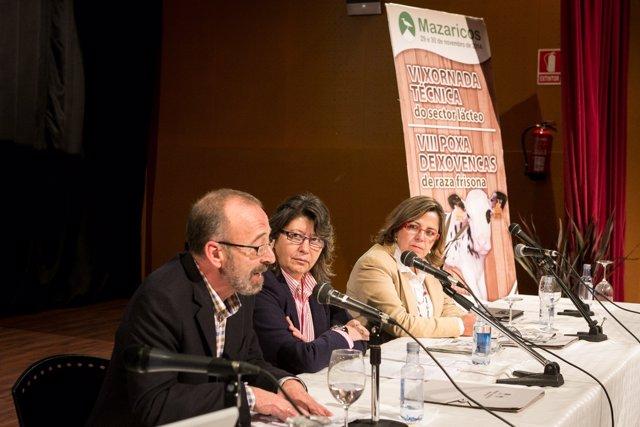 La conselleira do Medio Rural e do Mar, Rosa Quintana, en las jornadas