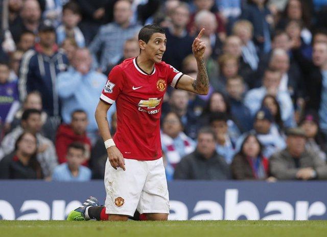 Ángel di María se lesiona en la victoria del Manchester United