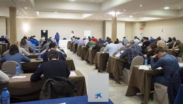 Examen de empleados de Caixabank.