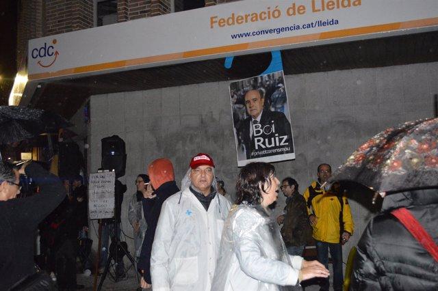 Manifestación contra el consorcio sanitario de Lleida