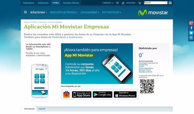 'App Mi Movistar Empresas'