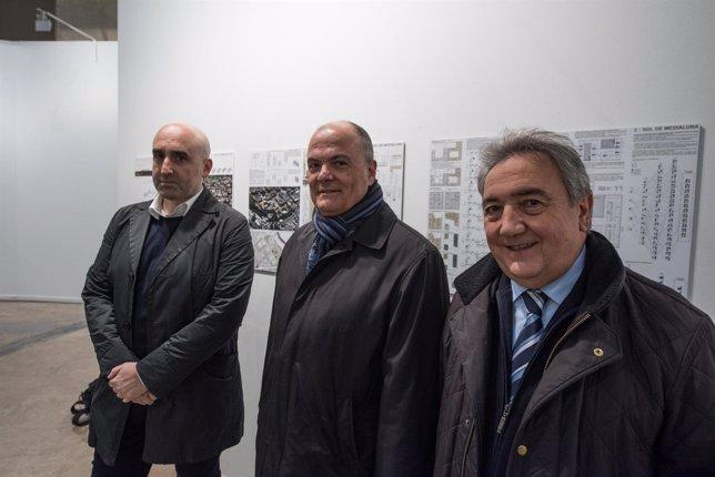 Ignacio Olite, Luis Zarraluqui e Iñaki Lete.