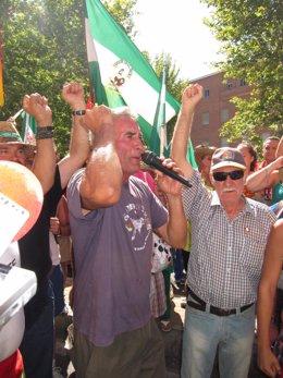 Cañamero En La Marcha Obrera Del SAT