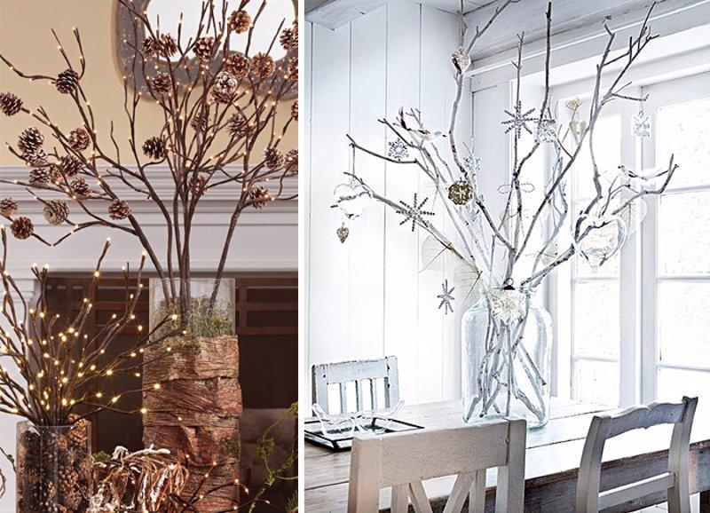 Ideas low cost para decorar tu casa en navidad - Ramas de arbol para decoracion ...