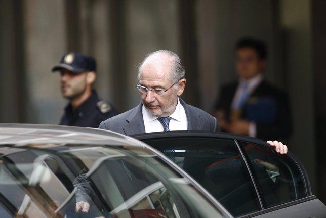 Rodrigo Rato sale de declarar de la Audiencia Nacional