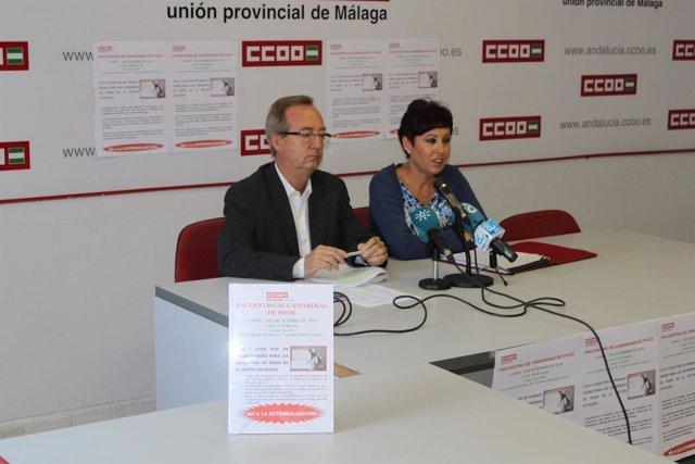 Gonzalo Fuentes, CCOO, campaña internacional a favor camareras de piso