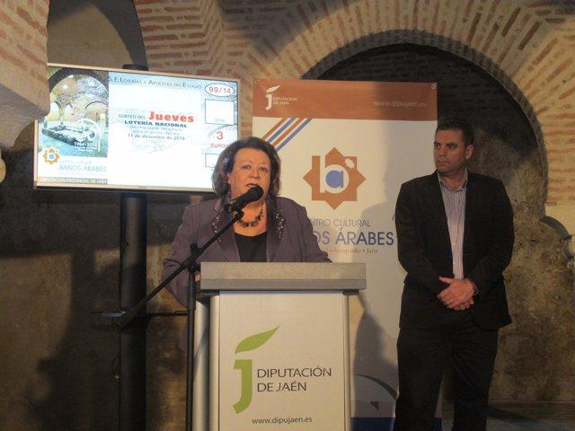 Presentación del décimo de Lotería Nacional dedicado a los Baños Árabes
