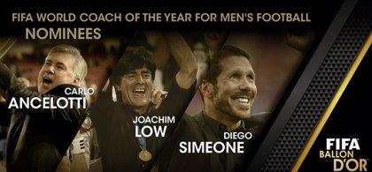 Ancelotti, Simeone y Löw, candidatos a mejor entrenador