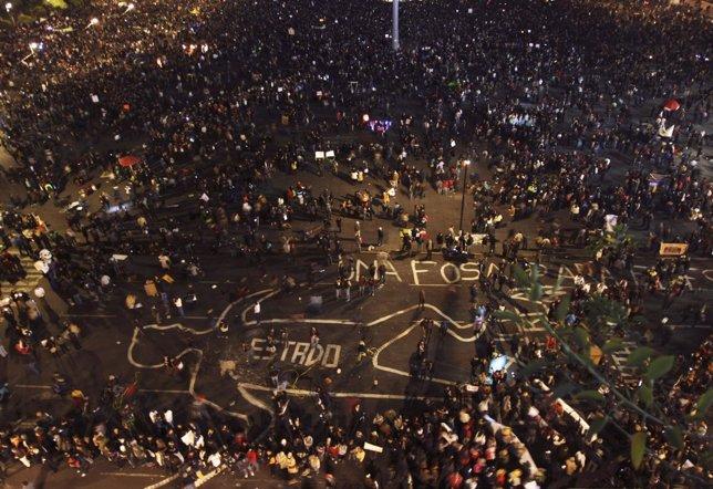 Protestas en México por los 43 estudiantes desaparecidos.