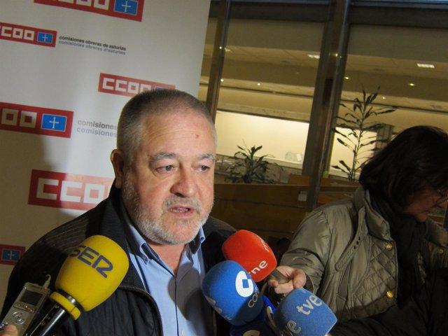 Antonio Pino, secretario general de CCOO Asturias