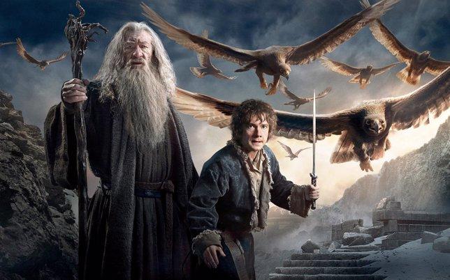 Gandalf y Bilbo en El Hobbit