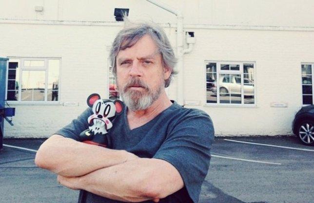 Mark Hamill en el set de Star Wars VII