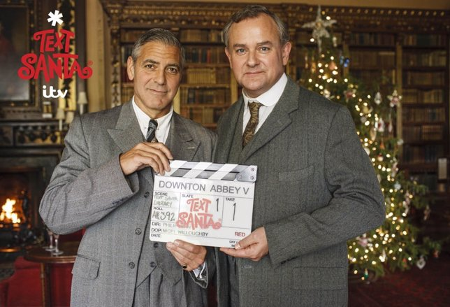 George Clooney y Hugh Bonneville en Downton Abbey