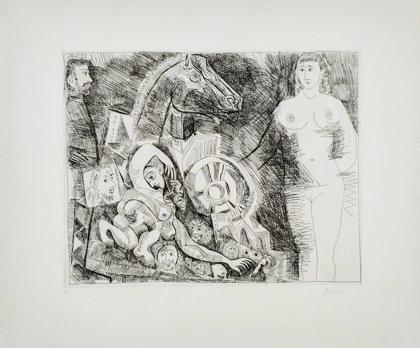 Málaga.-Cultura.-Una galería de Barcelona subasta este miércoles un grabado de Picasso, entre otras obras