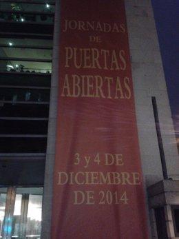 Cartel jornadas puertas abiertas Congreso 2014