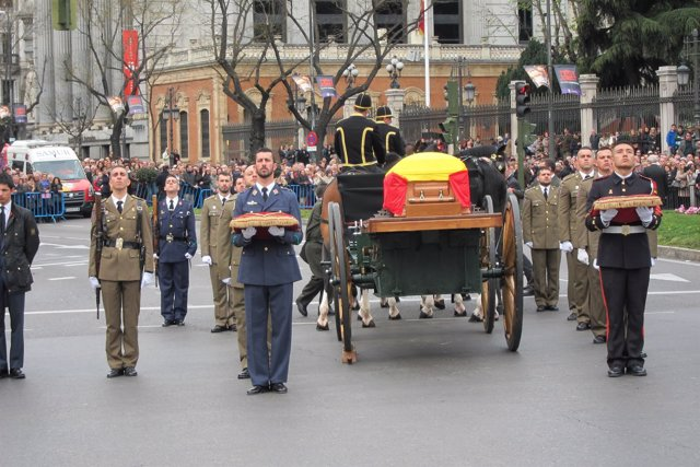 Cortejo fúnebre de Adolfo Suárez