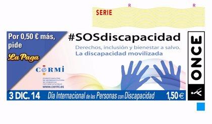 El Día Internacional de las Personas con Discapacidad protagonizará el cupón de la ONCE de hoy