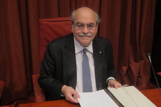 El conseller de Economia de la Generalitat, Andreu Mas-Colell
