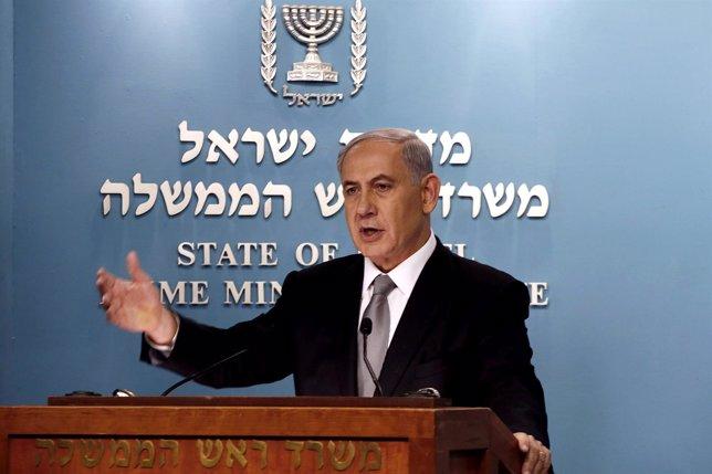 Primer Ministro israelí Benjamin Netanyahu
