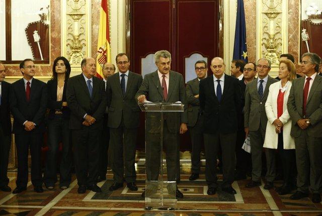 Jorge Fernández Díaz, Jesús Posada y Alfonso Alonso