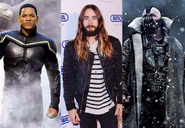 Will Smith, Jared Leto y Tom Hardy