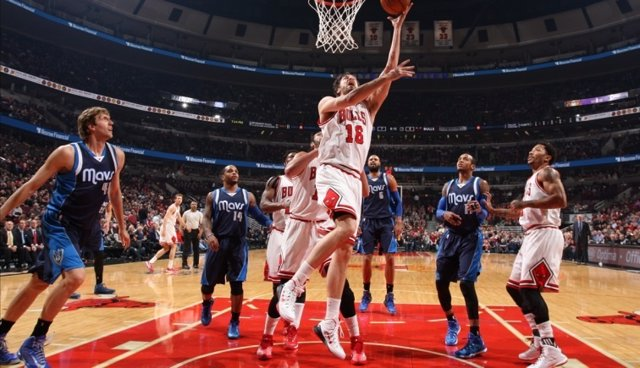 Pau Gasol en el Chicago Bulls - Dallas Mavericks