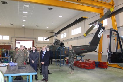 El presidente de la DPZ visita la Academia de Logística en Calatayud
