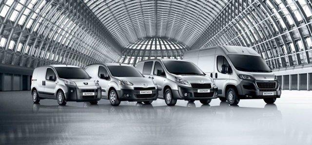 Gama de vehículos comerciales de Peugeot