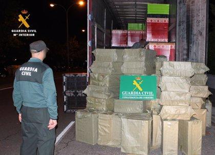 Intervenidas más de 60.000 cajetillas de tabaco de contrabando y detenido el conductor del camión