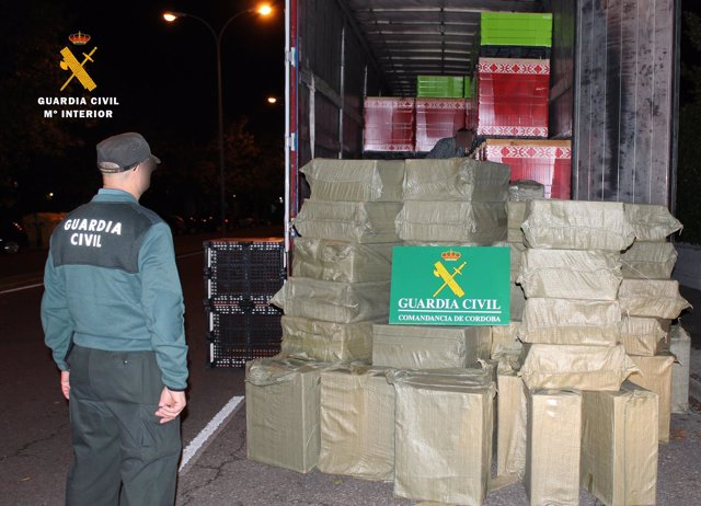 La Guardia Civil custodia el material intervenido