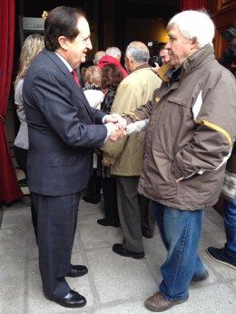 El vicepresidente del Senado Juan José Lucas en las jornadas de puertas abiertas