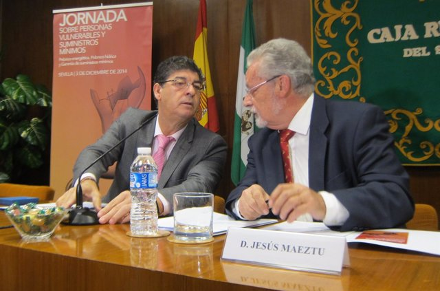 Diego Valderas y Jesús Maeztu, hoy ante los medios