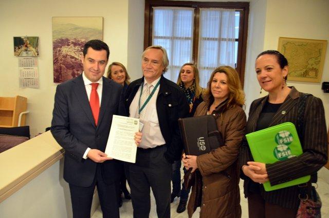 Moreno registra la enmienda junto a los sindicatos de la enseñanza concertada