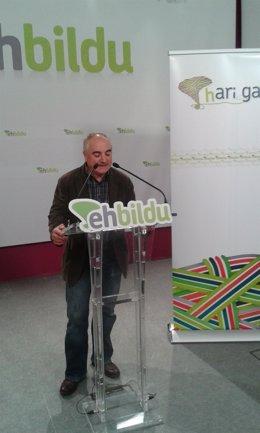 Xabier Olano, candidato de EH Bildu.
