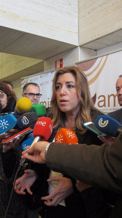 """Susana Díaz pide a Alonso """"sensibilidad"""" y """"recursos que hasta ahora se le han quitado a los andaluces"""""""